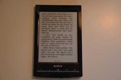 Sony prs-t1 reading