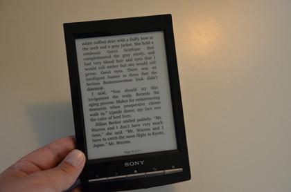 Sony prs-t1 reading 2