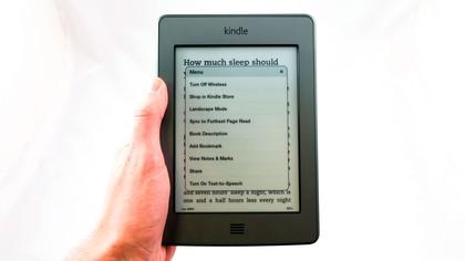 kindle touch menu