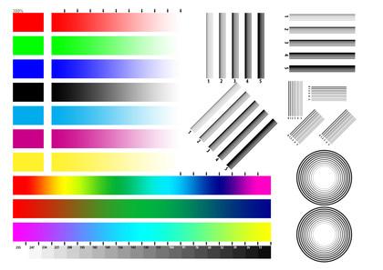 Printer test chart