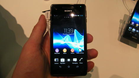 Hands-on review: IFA 2012: Sony Xperia V