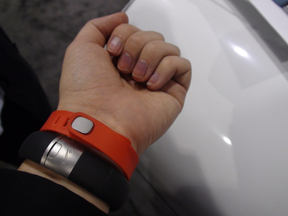 The Fitbit Flex wristband has bright colors