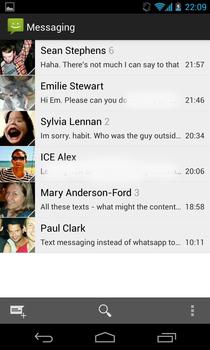 Google Nexus 4 messages
