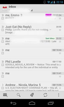 Google Nexus 4 messaging