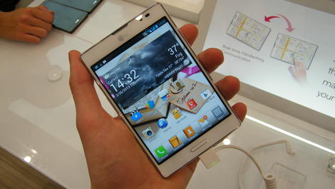 Hands-on review: MWC 2013: LG Optimus Vu 2