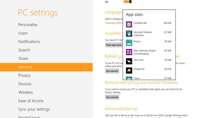 See how much space 'modern' apps take up on your drive