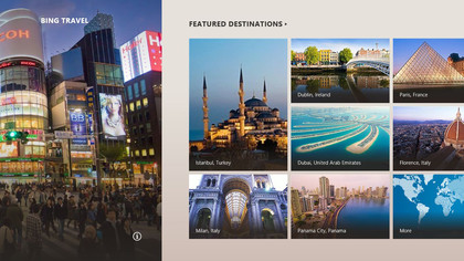 Beautiful eye candy in the Bing Travel app