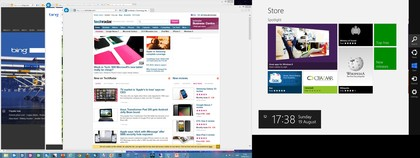 …or on the right; you can see the switching pane on either screen as well