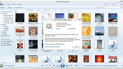 Windows Media Player is almost exactly the same as in Windows 7