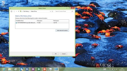 File History isn't on by default because you have to pick a drive to use