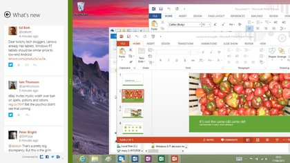 The new-look desktop and modern apps look more similar