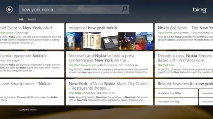 Search with Bing the way you would on Windows Phone