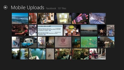 The photo layout of your SkyDrive photos looks like SkyDrive's own gallery