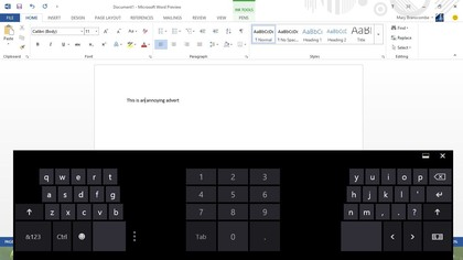 The split keyboard looks tiny but works surprisingly well for thumb typing