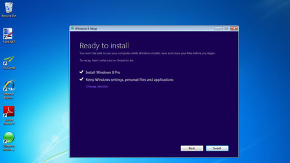Even if you have Windows 7 on your PC, you can still choose a fresh start