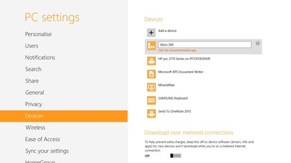 Add your Xbox as a device in PC Settings so you can stream video and music to it; the app is Xbox SmartGlass