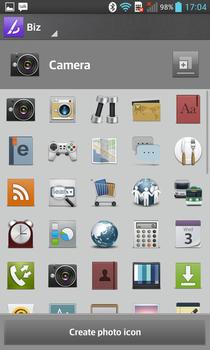 LG Optimus G - icons