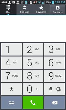 LG Optimus G - dialer