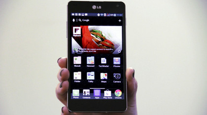 LG Optimus G - screen