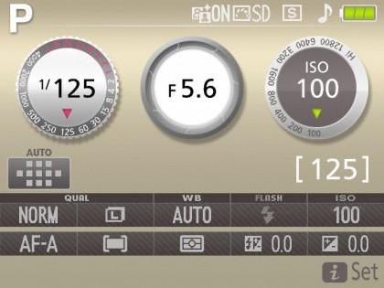 D3300 interface