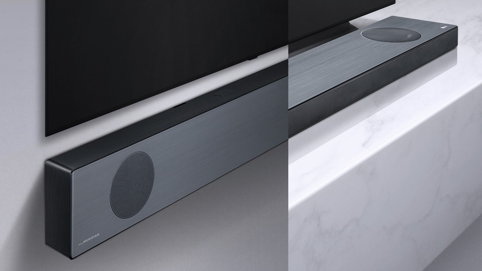 A product shot of the new LG sound bar range