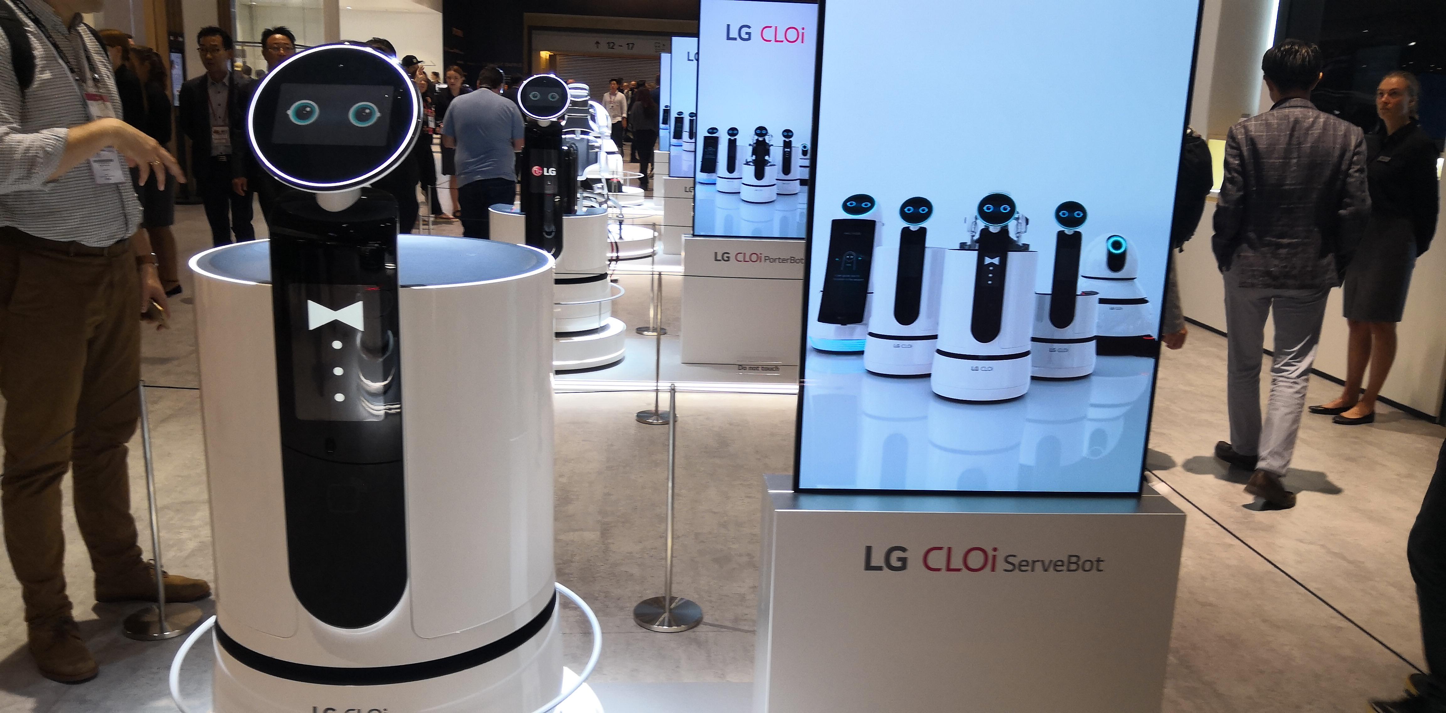 A photo of an LG robot