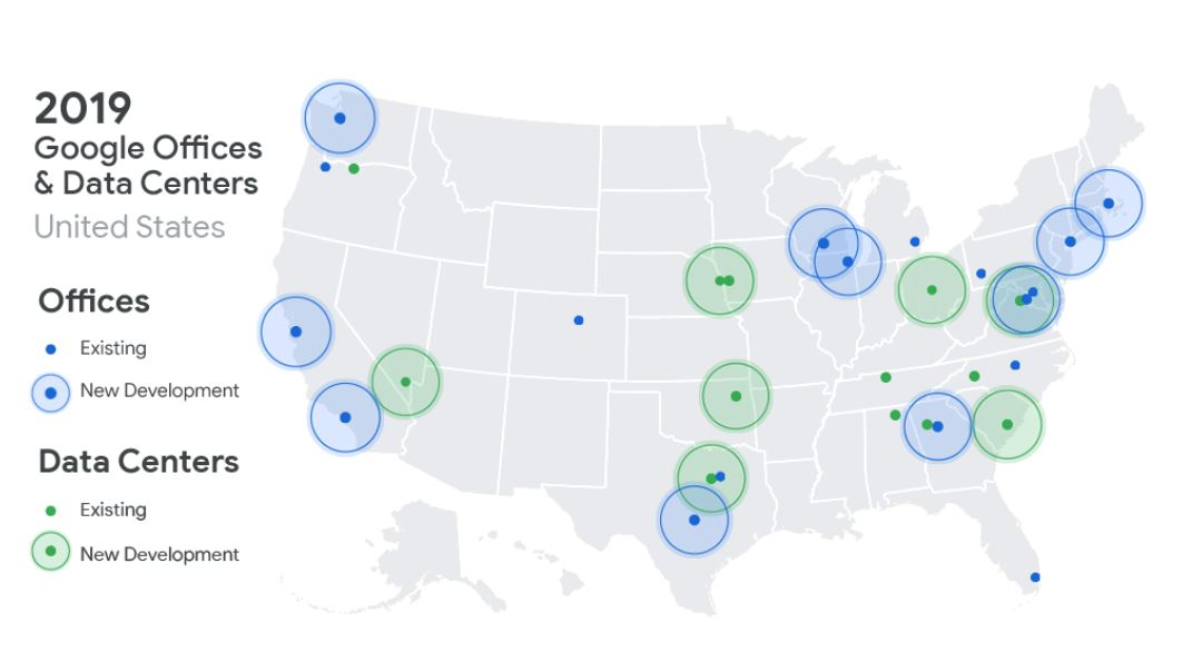 New US data centers